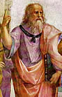 A graphic image of Plato details from a painting by Athens Raphael Sanzio done in 1508 and now hanging in the Vatican Museum. Click clipart to for a larger image of Plato in this famous vintage 1500's Sanzio painting.